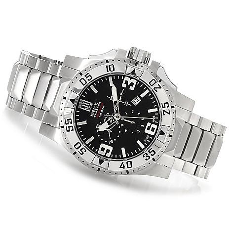 622-342 - Invicta Reserve 50mm Jason Taylor Excursion Swiss Bracelet Watch w/ 3-Slot Dive Case