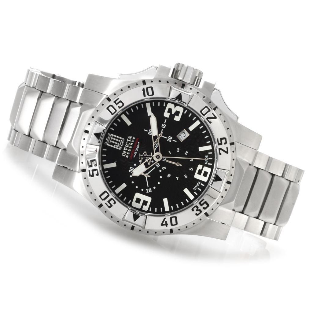 622-342 - Invicta Reserve Men's Jason Taylor Excursion Bracelet Watch w/ Three-Slot Dive Case