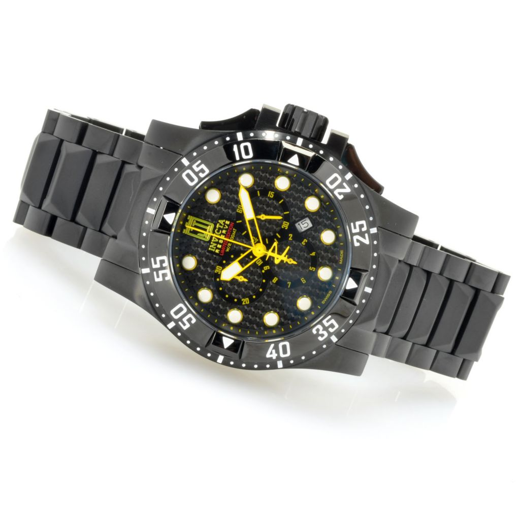 622-343 - Invicta Reserve 50mm Jason Taylor Excursion Bracelet Watch w/ Three-Slot Dive Case