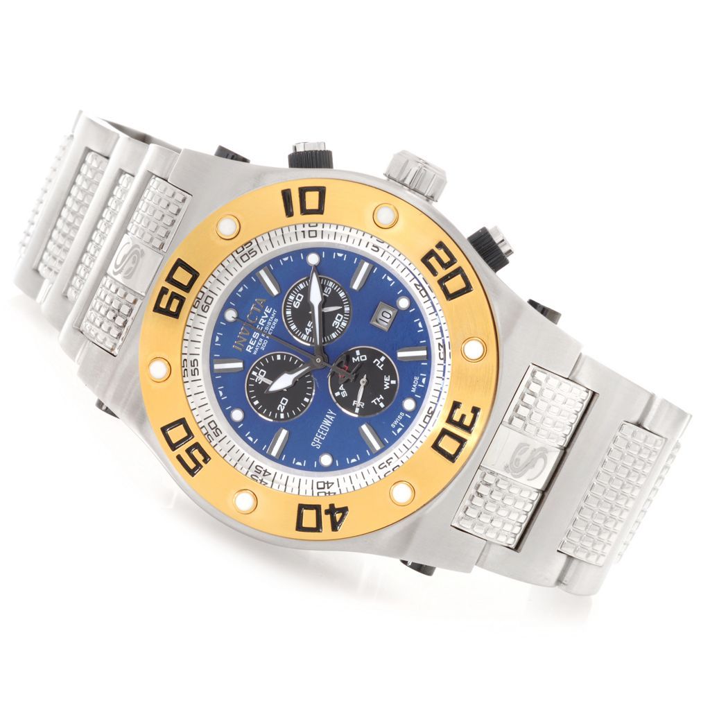 622-358 - Invicta Reserve 50mm Speedway XL Swiss Chronograph Stainless Steel Bracelet Watch