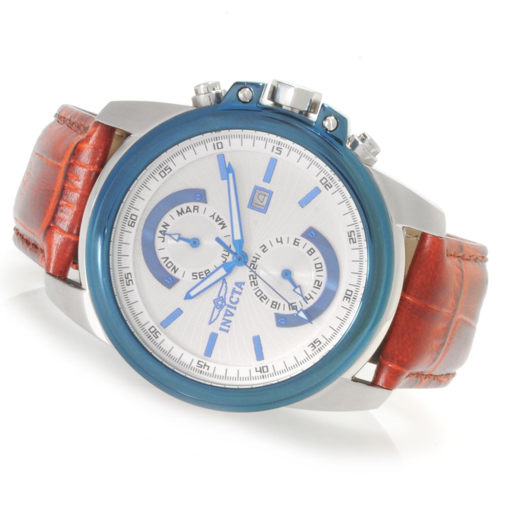 622-369 - Invicta Men's Specialty Elegant Quartz Stainless Steel Leather Strap Watch