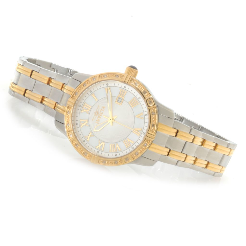622-400 - Invicta Women's Angel Quartz Diamond Accented Bracelet Watch w/ Travel Box