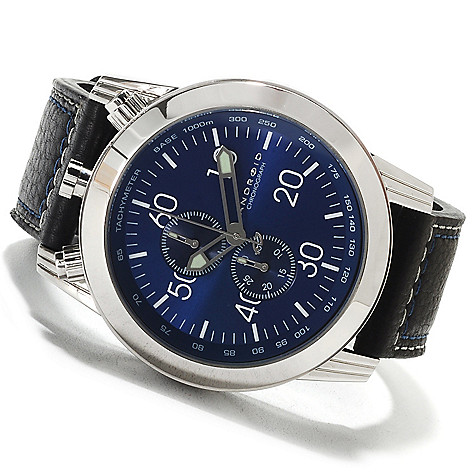 622-431 - Android Men's Dynamic Quartz Chronograph Leather Strap Watch