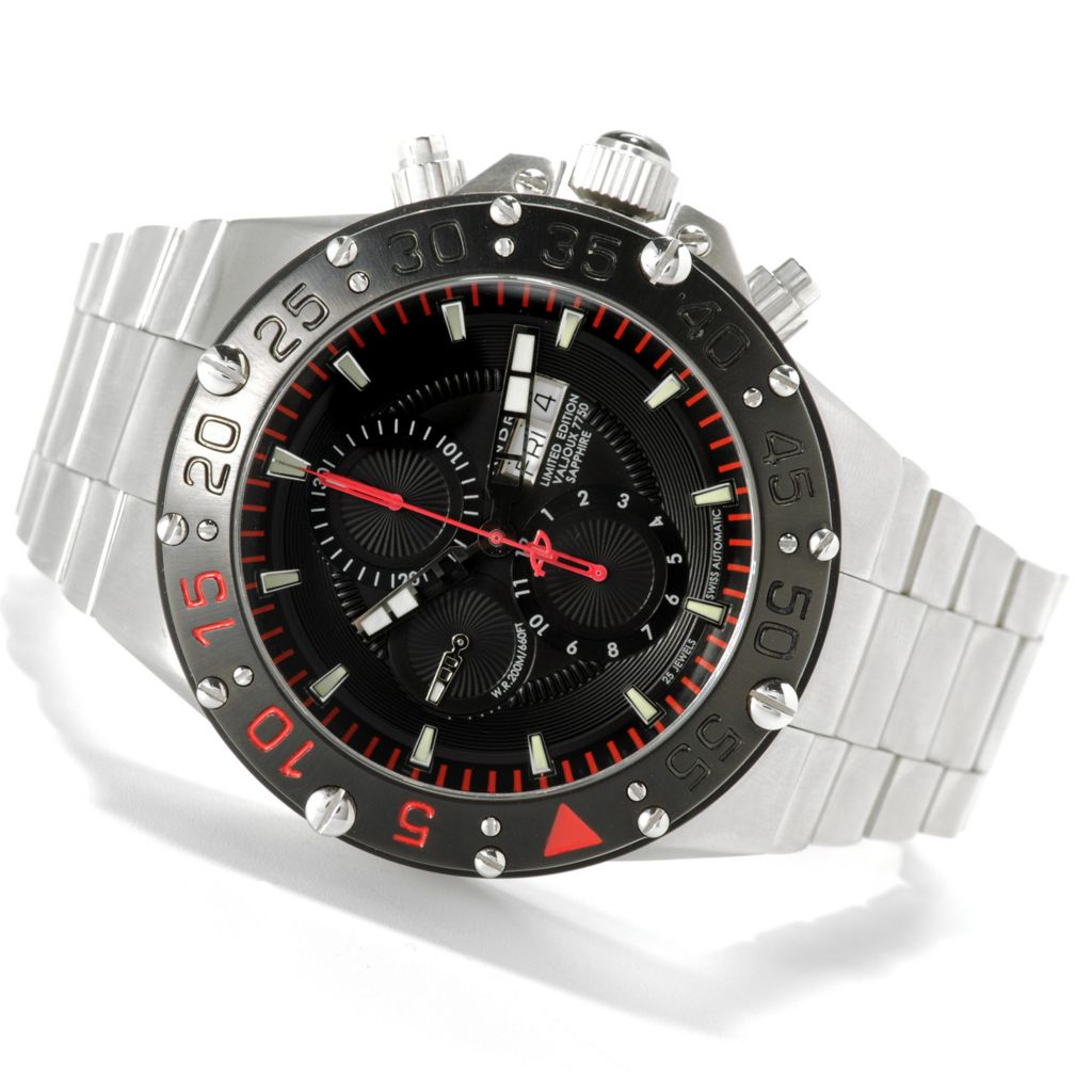 622-433 - Android Men's DM Enforcer Limited Edition Swiss Valjoux 7750 Automatic Bracelet Watch w/ 12-Slot Box