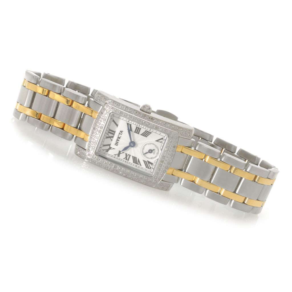 622-437 - Invicta Women's Angel Quartz Diamond Accented Bezel Stainless Steel Bracelet Watch