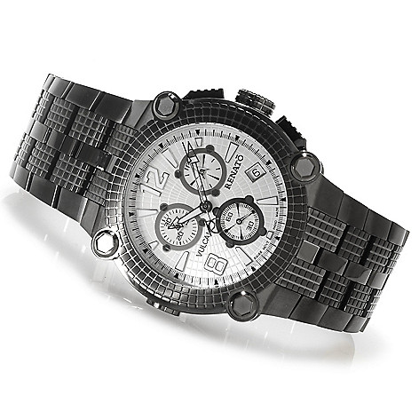 622-442 - Renato Men's Vulcan Swiss Quartz Chronograph Stainless Steel Bracelet Watch