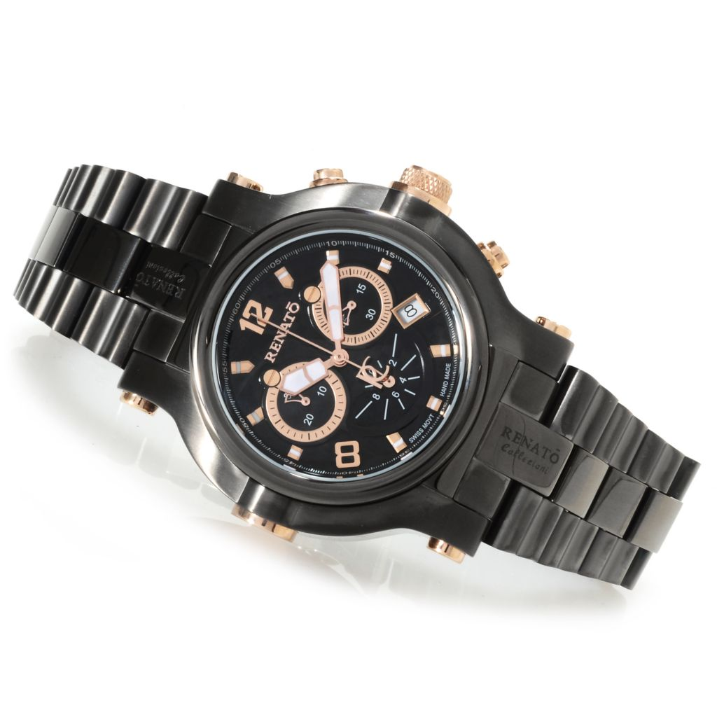622-445 - Renato Men's Beast Limited Edition Swiss Quartz Chronograph Bracelet Watch