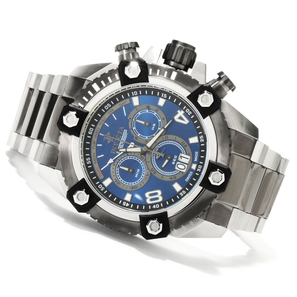 622-483 - Invicta Reserve 56mm Swiss Made Quartz Chronograph Stainless Steel Bracelet Watch