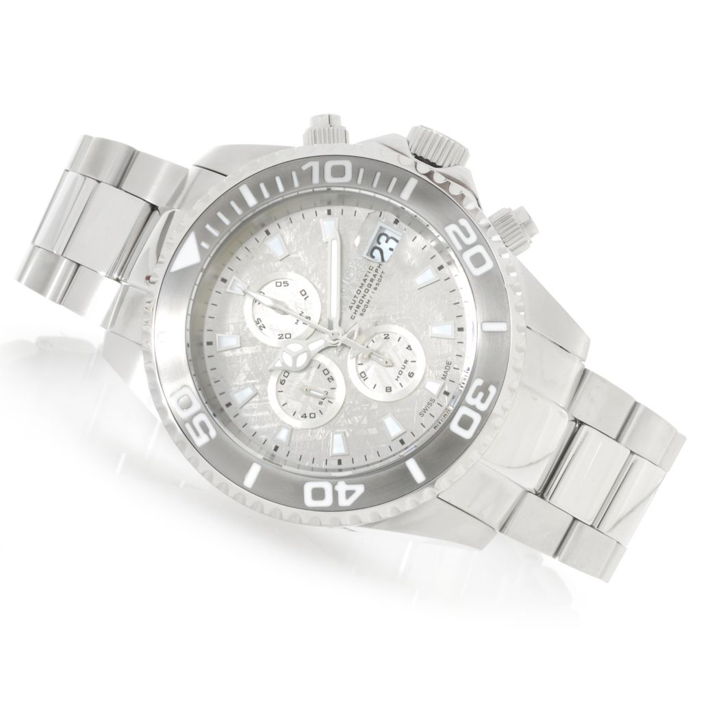 622-500 - Invicta Reserve 52mm Pro Diver Swiss Valgranges Meteorite Dial Bracelet Watch
