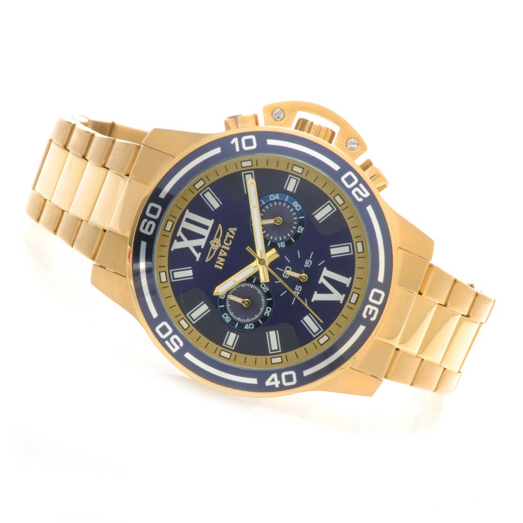 622-516 - Invicta 46mm Specialty Quartz Chronograph Bracelet Watch w/ Eight-Slot Dive Case