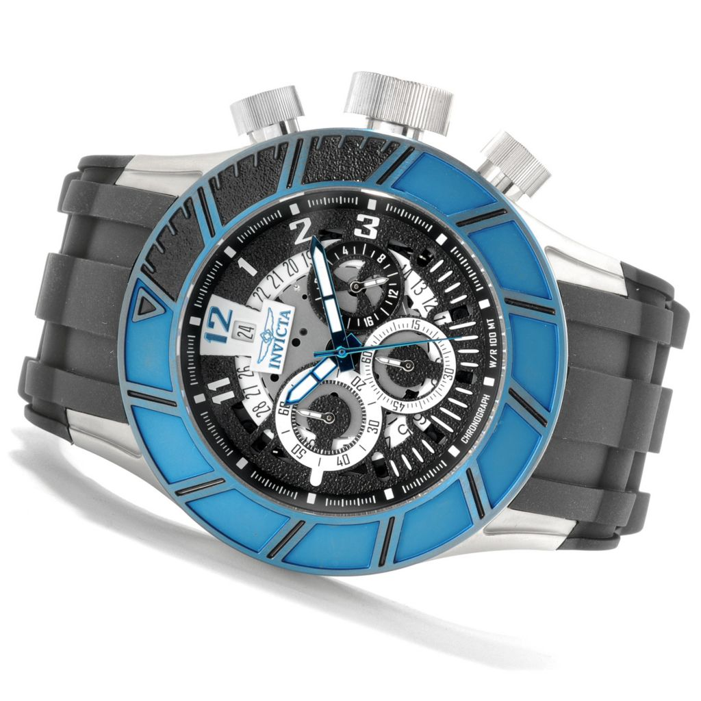 622-527 - Invicta Men's Pro Diver Slicer Quartz Chronograph Stainless Steel Polyurethane Strap Watch