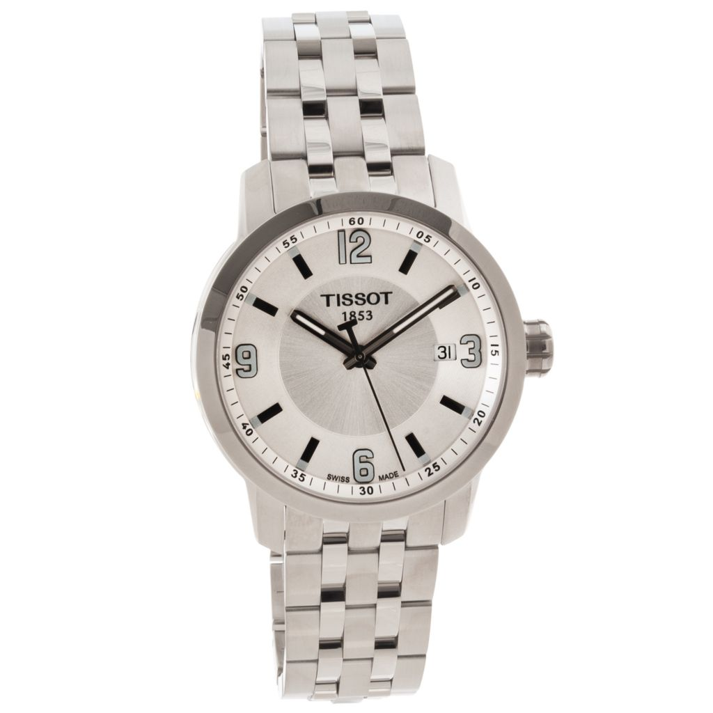 622-551 - Tissot Men's PRC 200 Swiss Made Quartz Stainless Steel Bracelet Watch