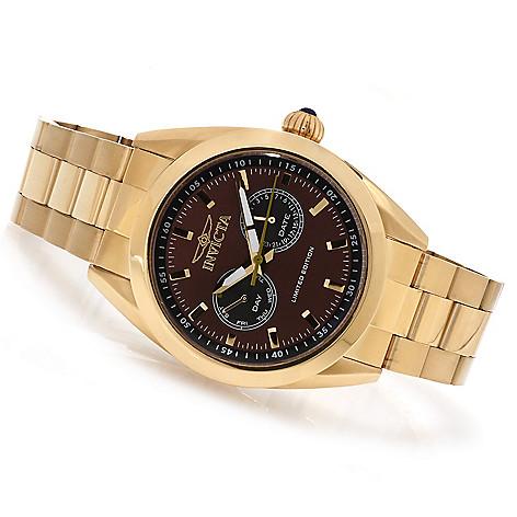622-559 - Invicta Poseidon Quartz Day & Date Limited Edition Bracelet Watch w/ Three-Slot Dive Case