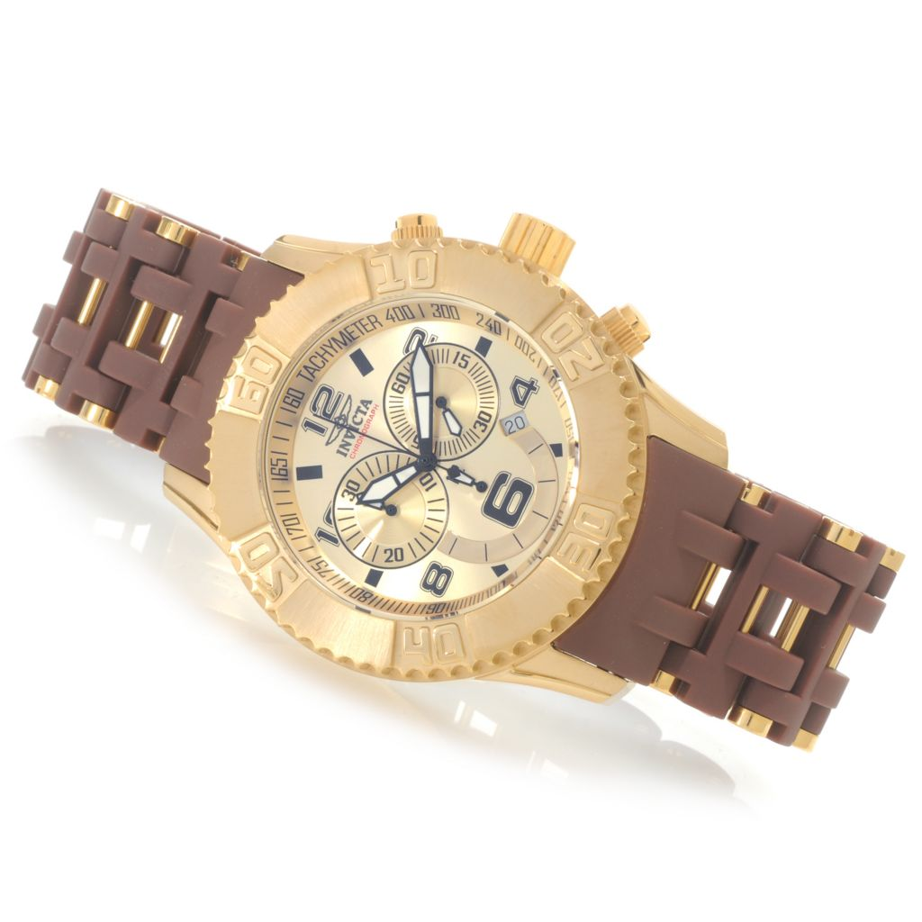 622-611 - Invicta Men's Sea Spider XL Quartz Chronograph Stainless Steel Bracelet Watch