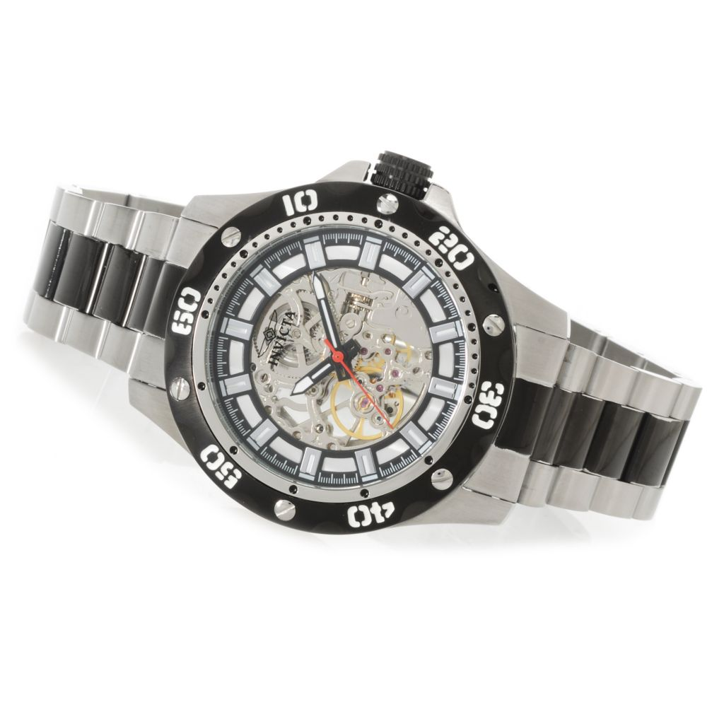 622-613 - Invicta Men's Specialty Python Mechanical Skeleton Dial Bracelet Watch