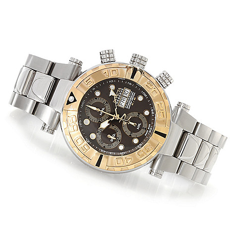 622-635 - Invicta Reserve 47mm Subaqua Noma I Limited Edition Valjoux 7750 Bracelet Watch w/ 3-Slot Dive Case