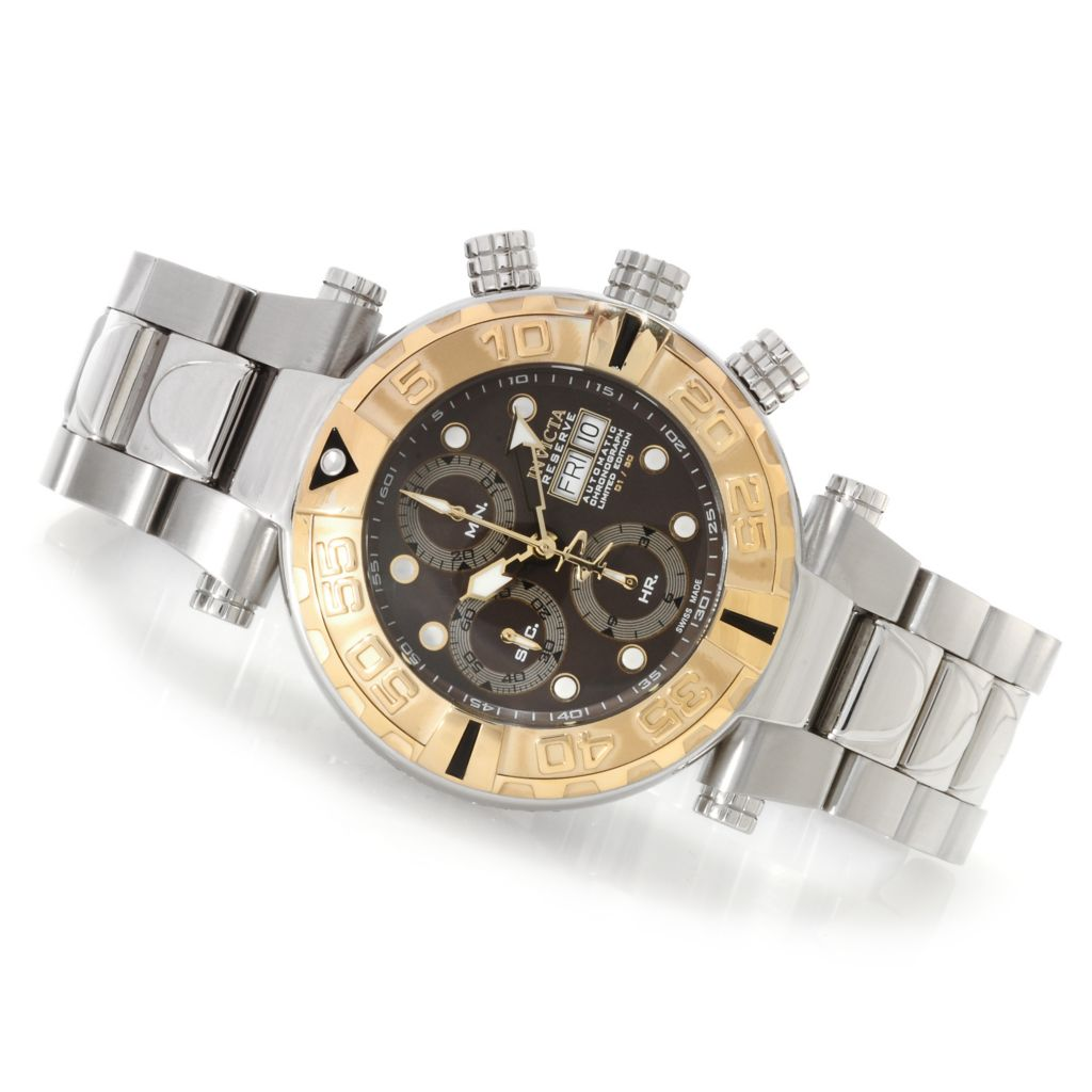 622-635 - Invicta Reserve Subaqua Noma I Limited Edition Valjoux 7750 Bracelet Watch w/Three-Slot Dive Case