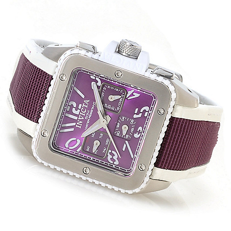 622-679 - Invicta Women's Cuadro Quartz Stainless Steel Leather Strap Watch w/Travel Box