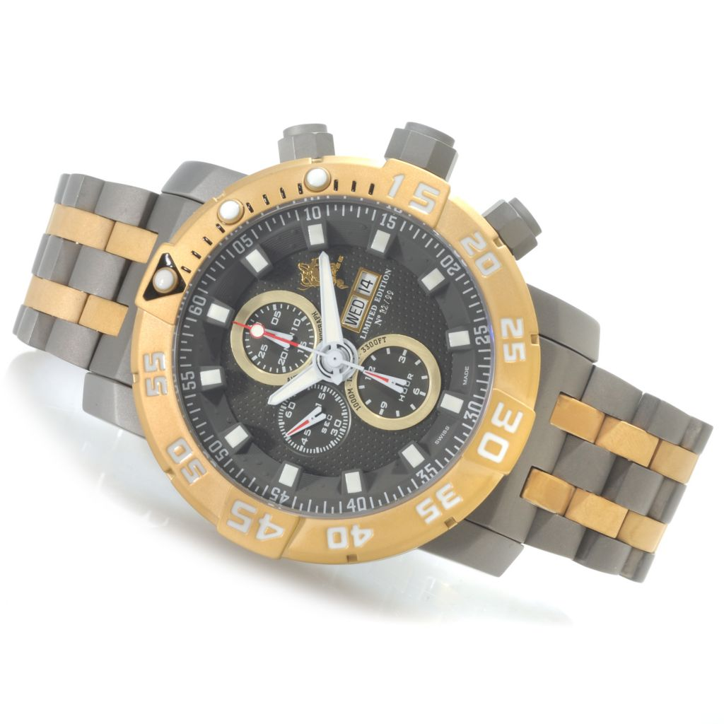 622-720 - Invicta 53mm Sea Base Swiss Valjoux 7750 Titanium Watch w/ One-Slot Dive Case