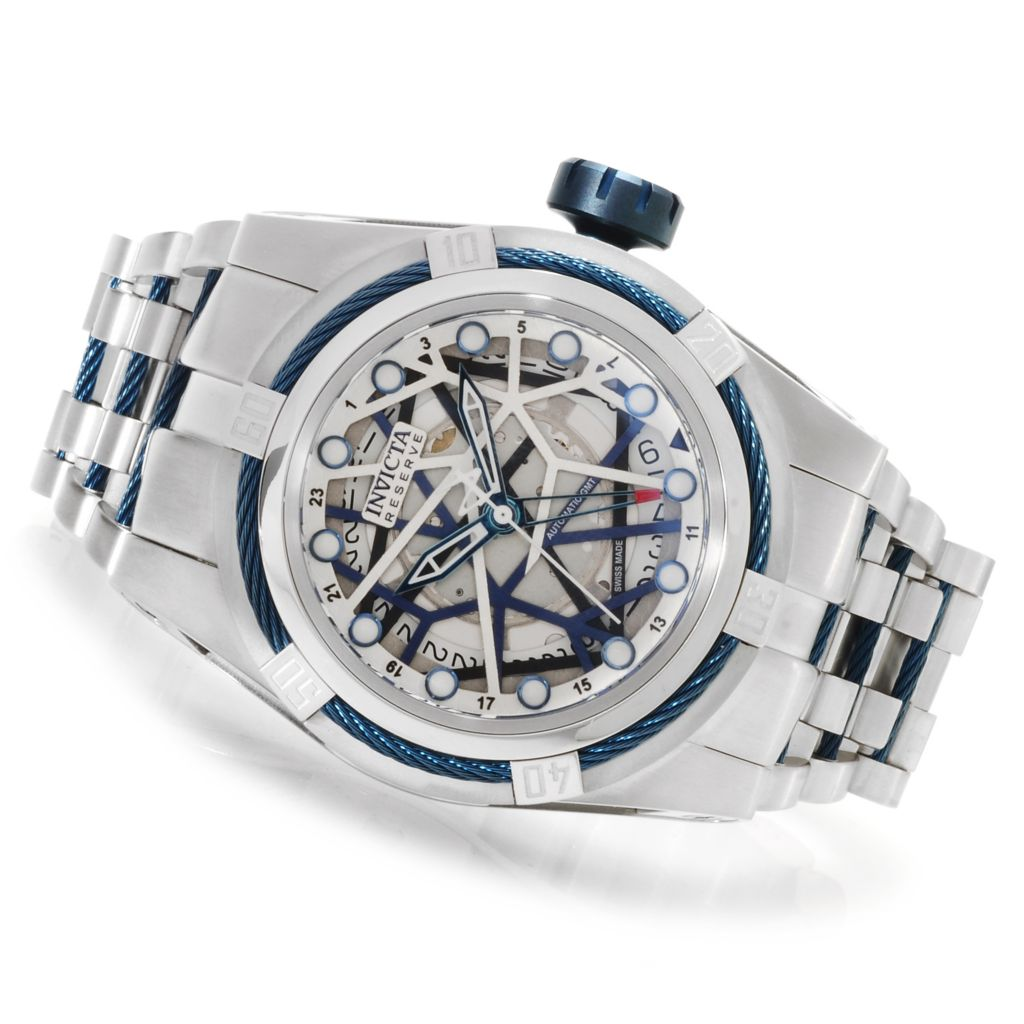 622-741 - Invicta Reserve Men's Bolt Zeus Swiss Made Automatic A07 GMT Bracelet Watch