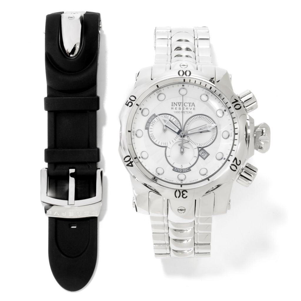 622-742 - Invicta Reserve Men's Venom Swiss Chronograph Bracelet Watch w/Dive Case & Strap