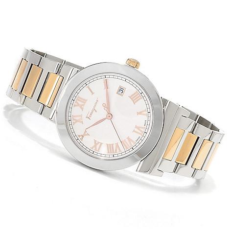 622-754 - Ferragamo Men's Grande Maison Swiss Made Quartz Stainless Steel Bracelet Watch