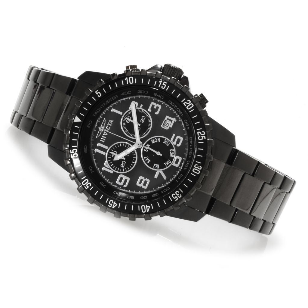 622-775 - Invicta 45mm Specialty Quartz Chronograph Bracelet Watch w/ Eight-Slot Dive Case