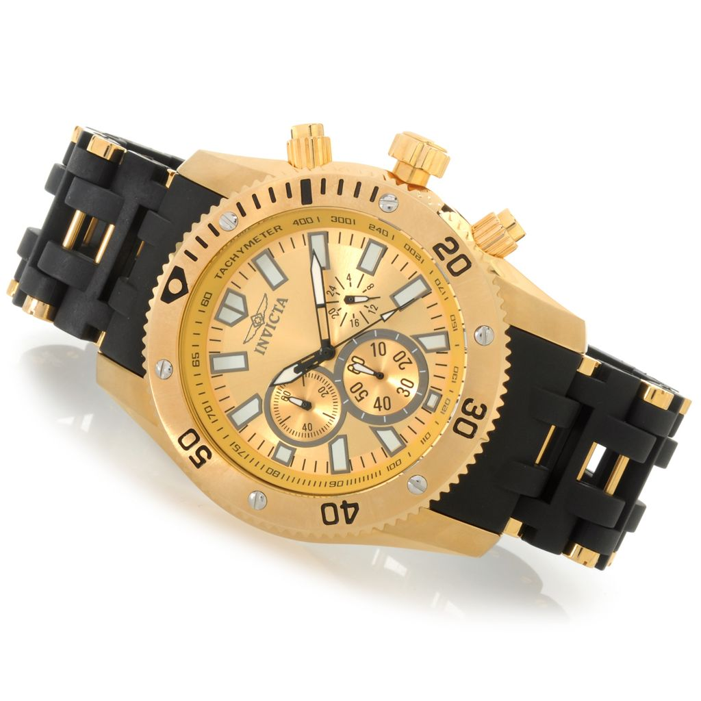 622-777 - Invicta Men's Sea Spider Quartz Chronograph Stainless Steel Polyurethane Bracelet Watch
