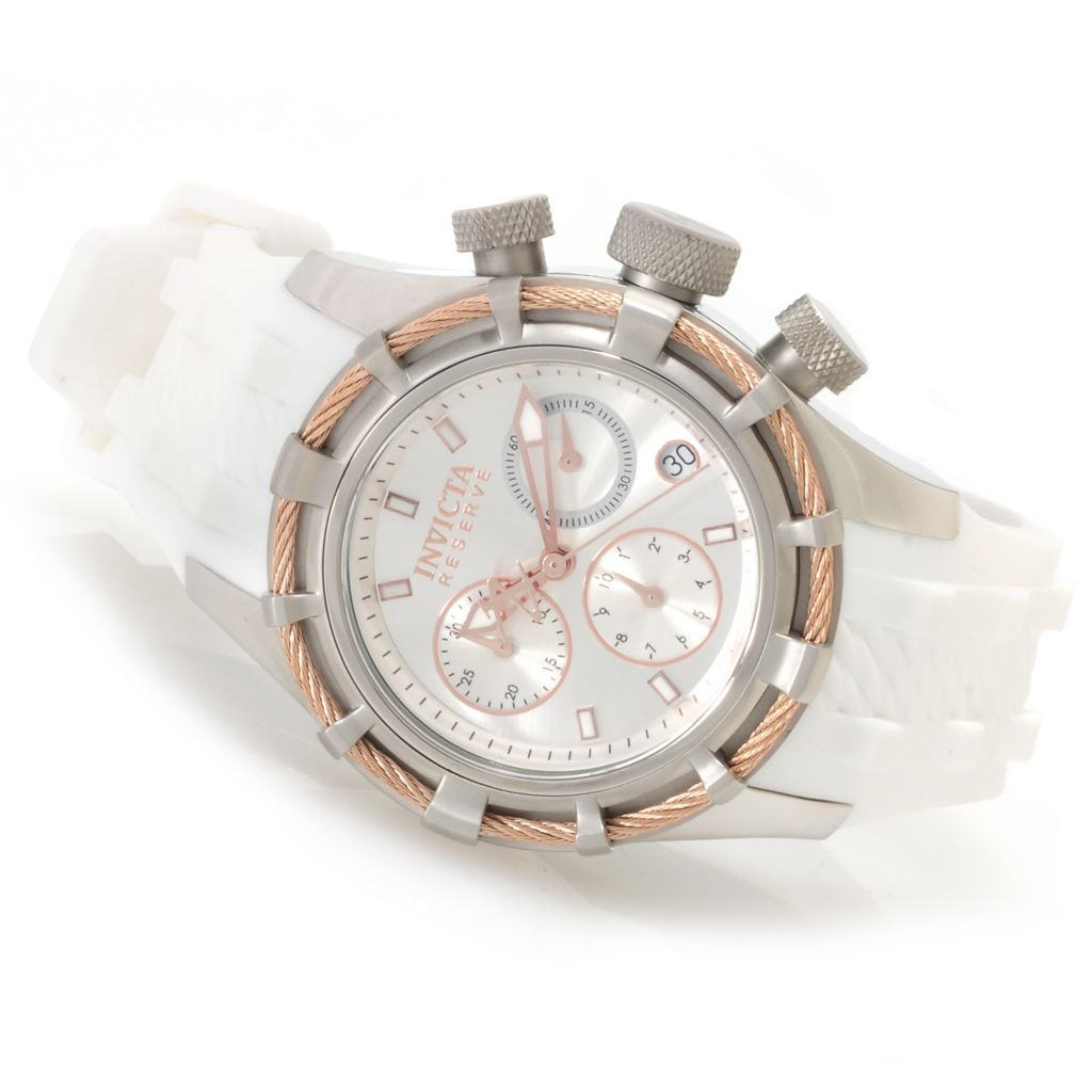 622-787 - Invicta Reserve Women's Bolt Quartz Chronograph Silicone Strap Watch w/ Travel Box
