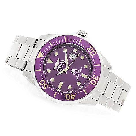 622-805 - Invicta 54mm Grand Diver Quartz Bracelet Watch w/ Eight-Slot Dive Case