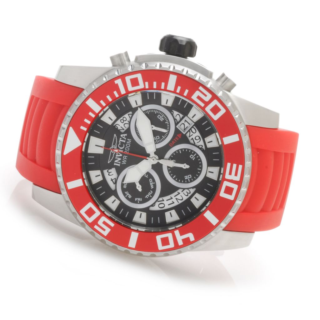 622-807 - Invicta 52mm Pro Diver Z60 Swiss Chronograph Stainless Steel Polyurethane Strap Watch