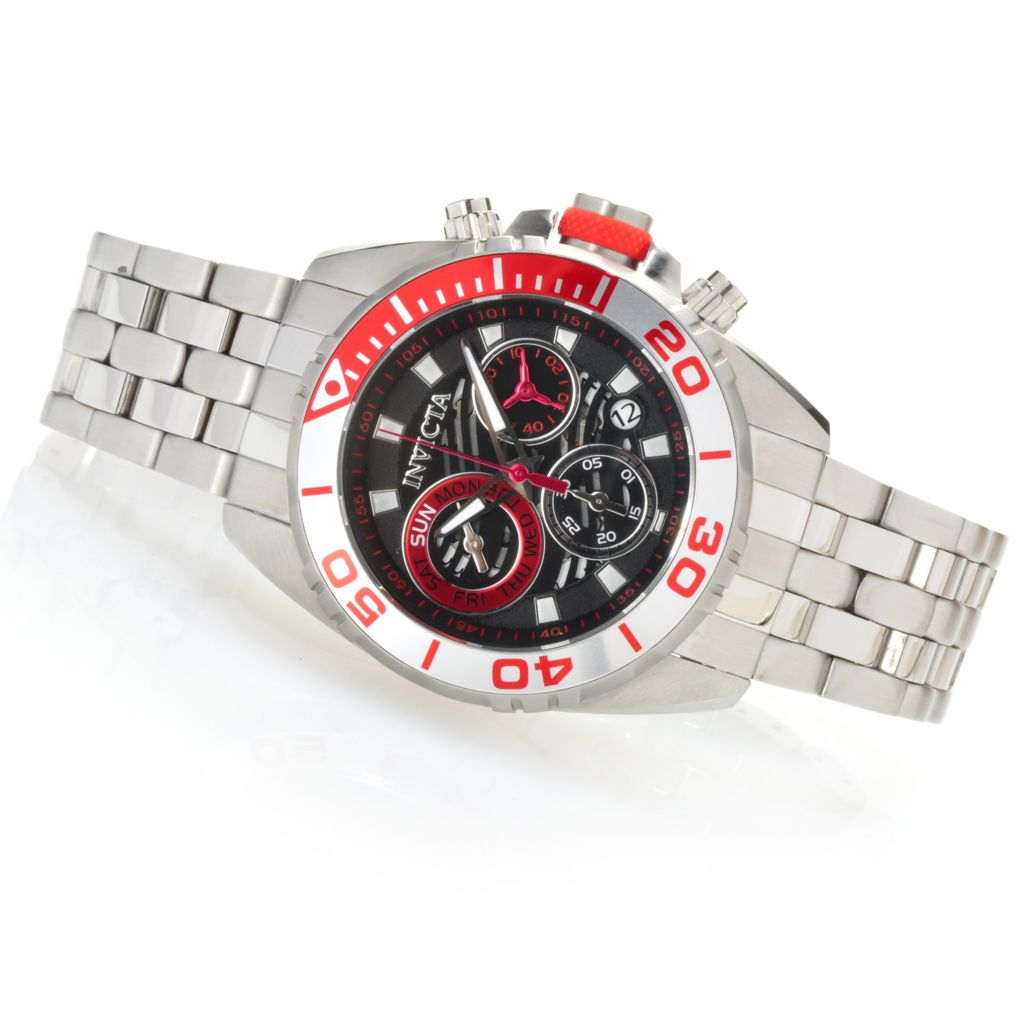622-809 - Invicta Men's Pro Diver Wave Swiss Quartz Chronograph Bracelet Watch