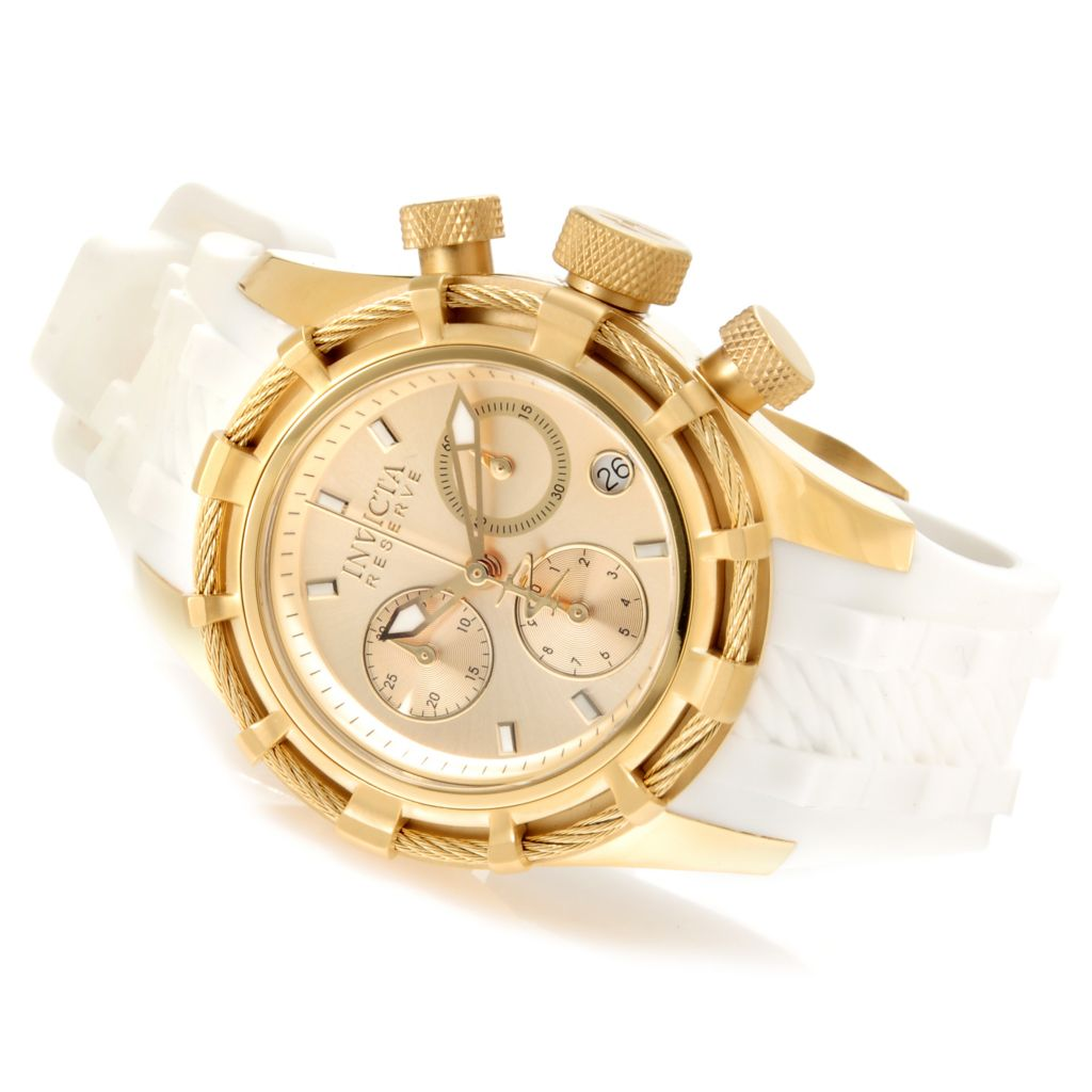 622-811 - Invicta Reserve Women's Bolt Quartz Chronograph Silicone Strap Watch w/ Travel Box
