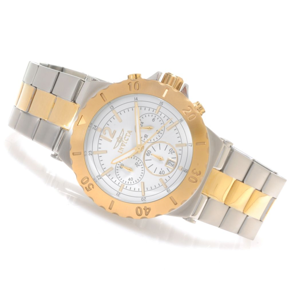 622-814 - Invicta Specialty Quartz Chronograph Bracelet Watch w/ Travel Box