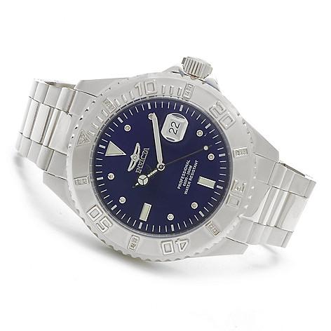 622-845 - Invicta 47mm Pro Diver Quartz Diamond Accented Stainless Steel Bracelet Watch