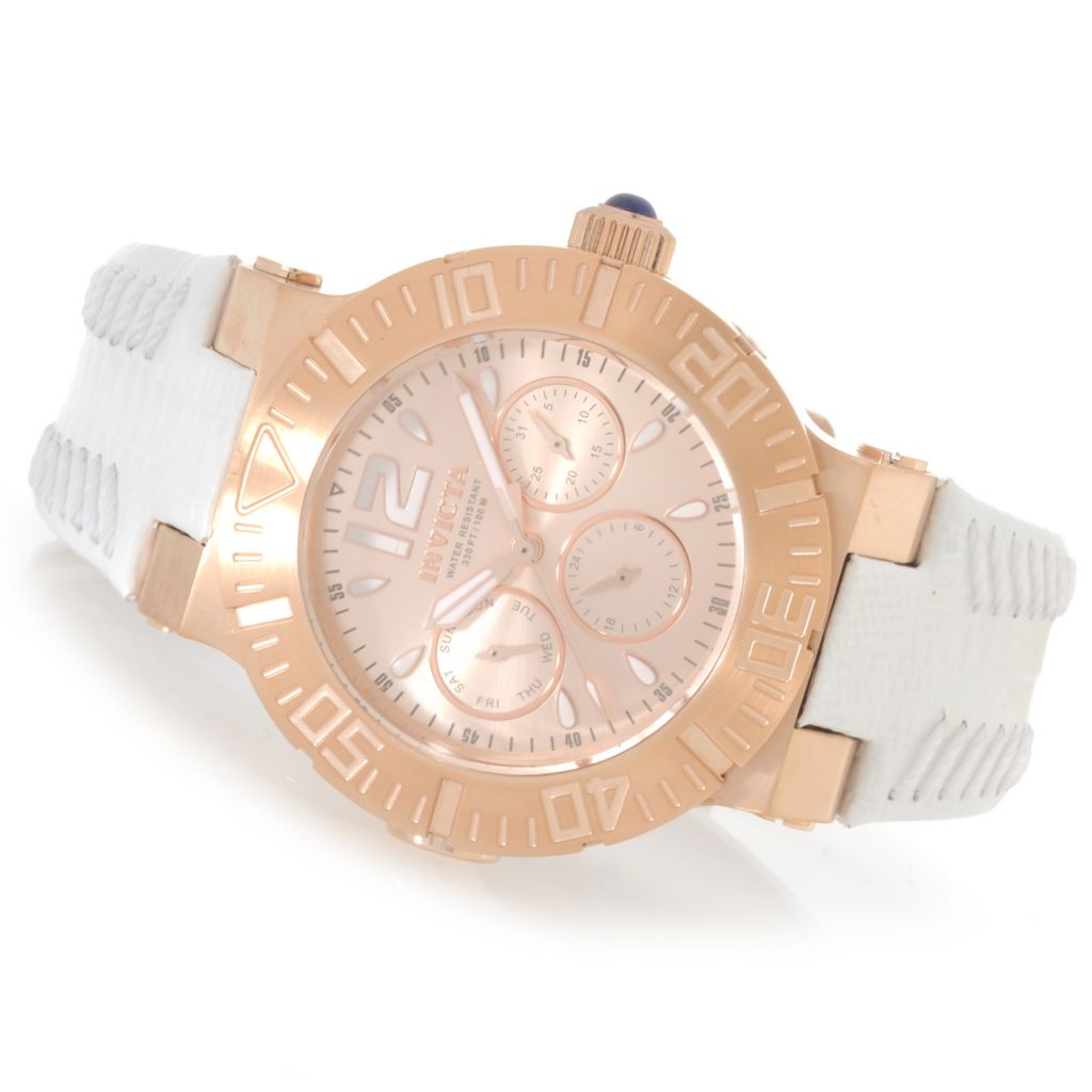 622-848 - Invicta Women's Angel Reef Quartz Stainless Steel Leather Strap Watch