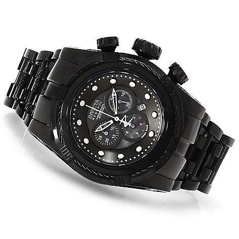 622-864 - Invicta Reserve 52mm Bolt Zeus Swiss Made Quartz Chronograph Bracelet Watch w/ Three-Slot Dive Case