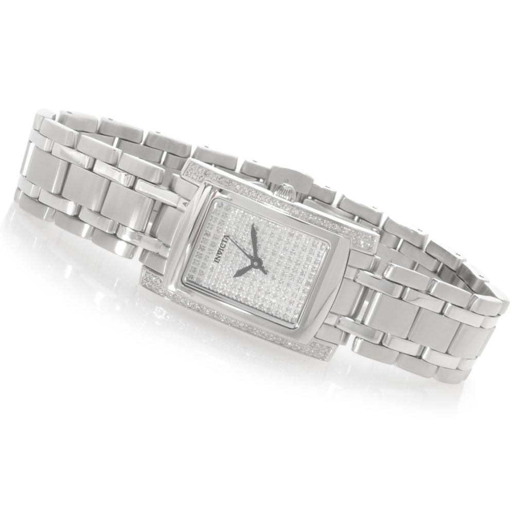 622-868 - Invicta Women's Angel Quartz Diamond Pave Dial Stainless Steel Bracelet Watch