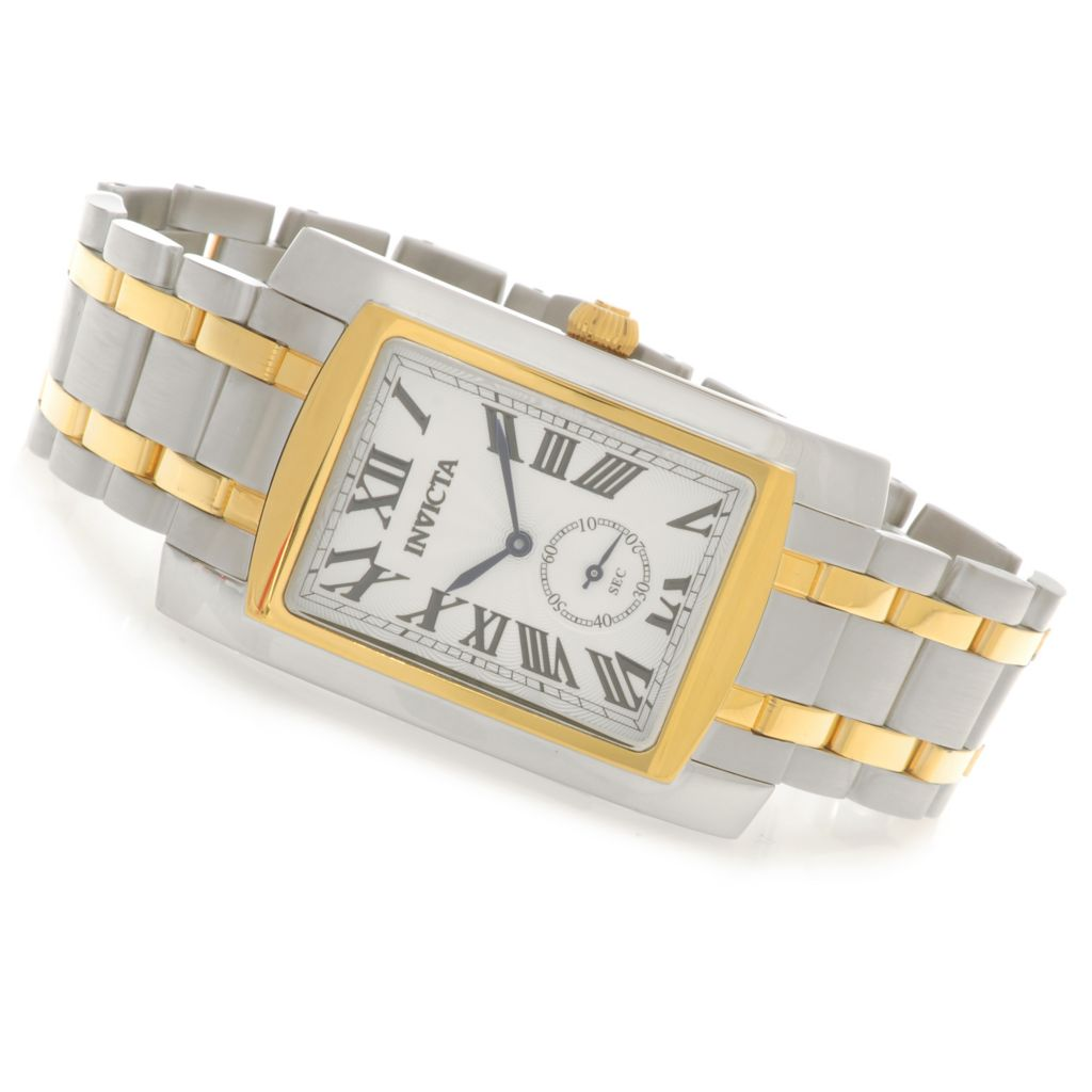 622-872 - Invicta Rectangular Cuadro Quartz Stainless Steel Bracelet Watch