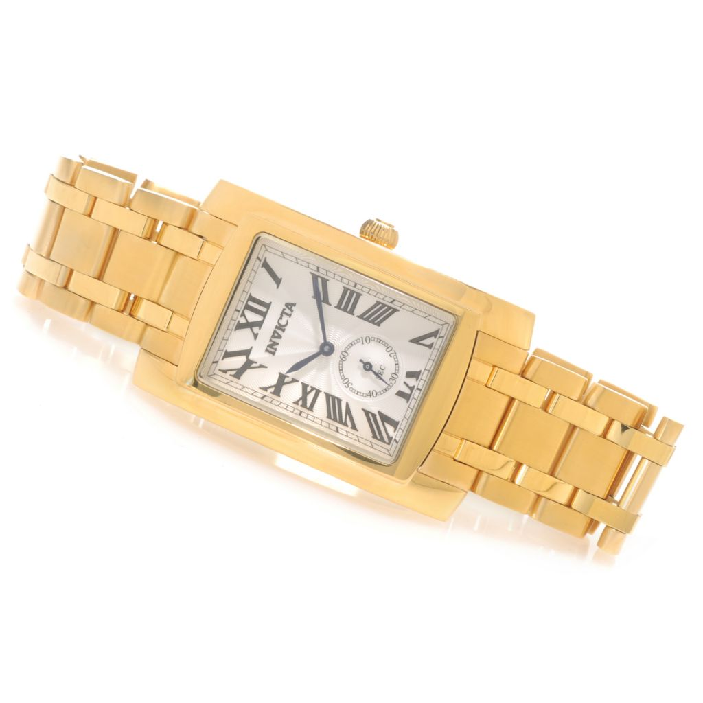 622-873 - Invicta Rectangular Cuadro Quartz Stainless Steel Bracelet Watch