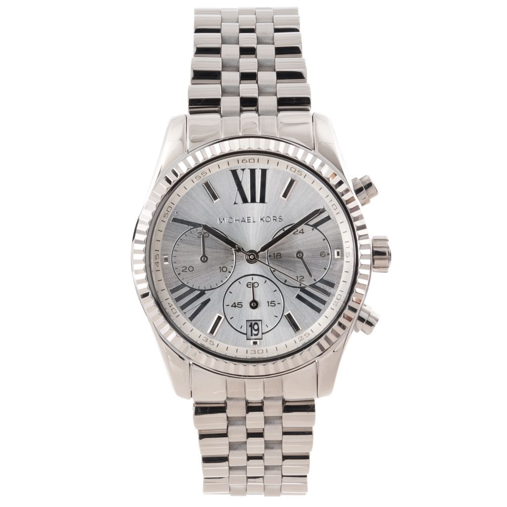 622-879 - Michael Kors Women's Lexington Quartz Chronograph Stainless Steel Watch