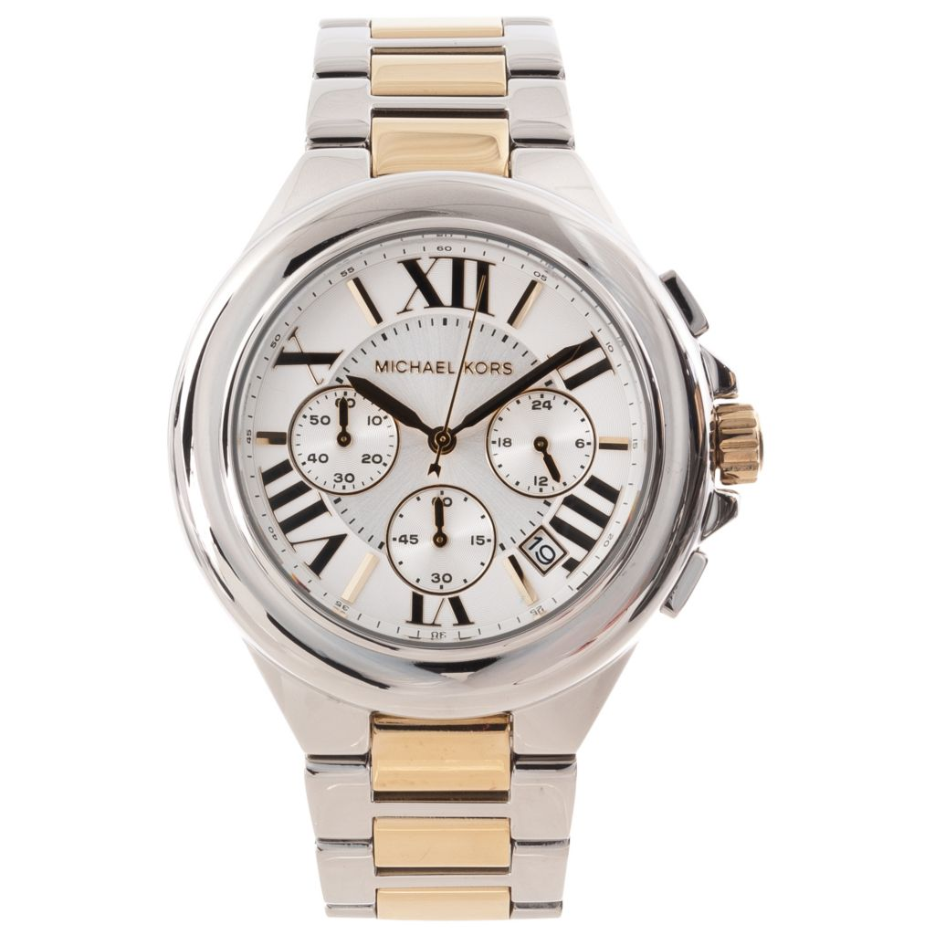 622-881 - Michael Kors Women's Camille Quartz Chronograph Two-tone Stainless Steel Bracelet Watch