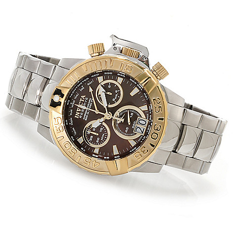 622-930 - Invicta Reserve 47mm Subaqua Noma II Swiss Made Quartz Chronograph Bracelet Watch w/3-Slot Dive Case