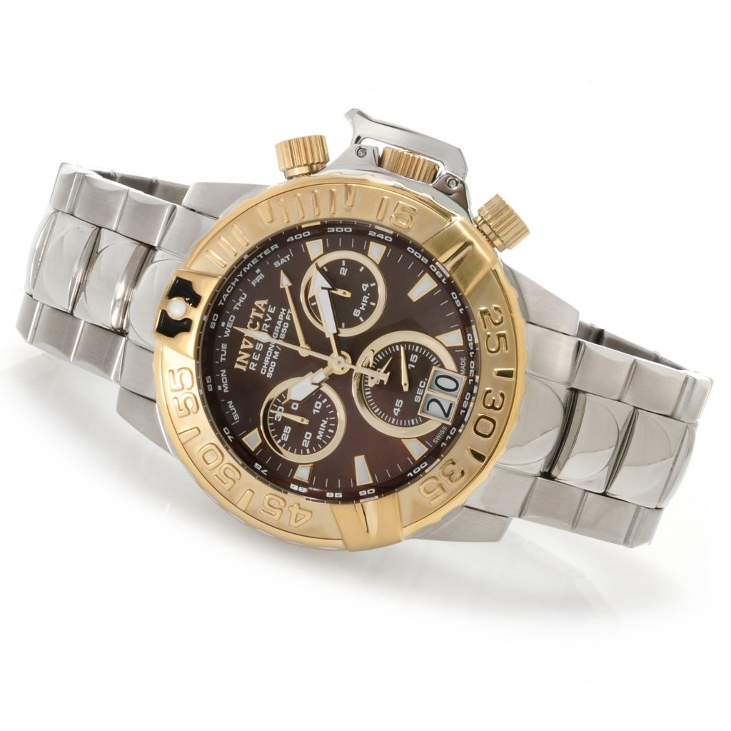 622-930 - Invicta Reserve Subaqua Noma II Swiss Made Quartz Chronograph Bracelet Watch w/ 3-Slot Dive Case