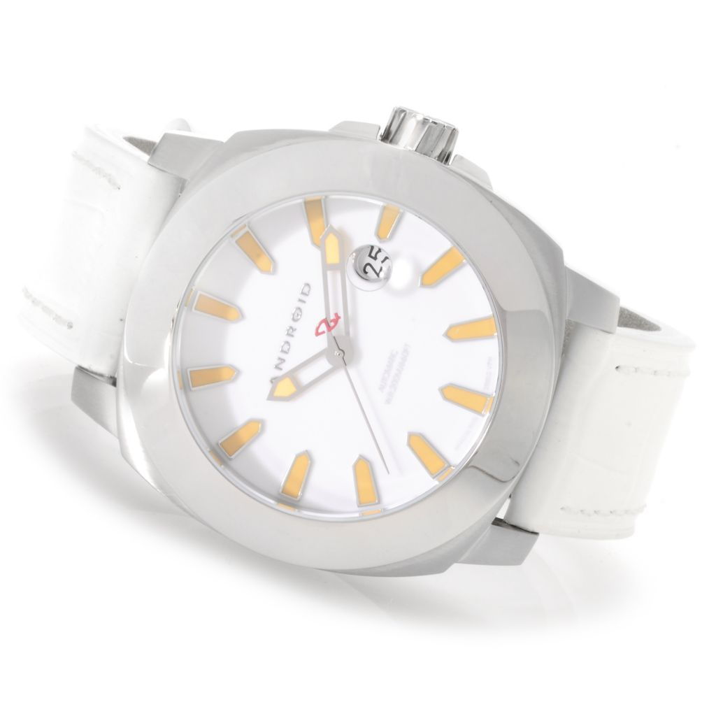 622-967 - Android 48mm Parma Automatic Stainless Steel Leather Strap Watch