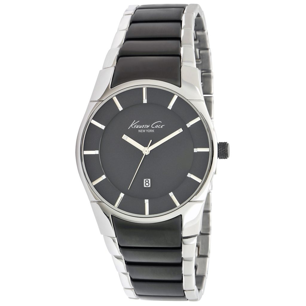 622-988 - Kenneth Cole 42mm Quartz Gunmetal Stainless Steel Bracelet Watch