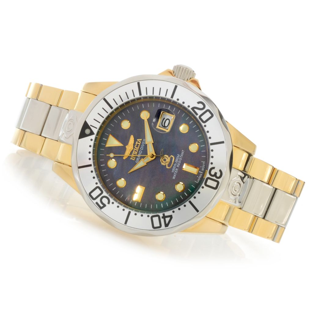 622-995 - Invicta 47mm Grand Diver Automatic Mother-of-Pearl Bracelet Watch