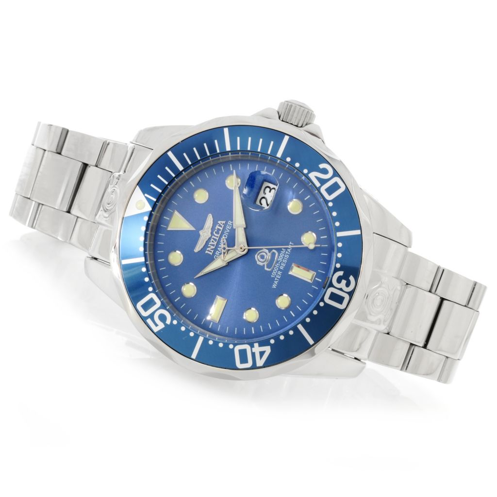 622-997 - Invicta 47mm Grand Diver Automatic Stainless Steel Bracelet Watch