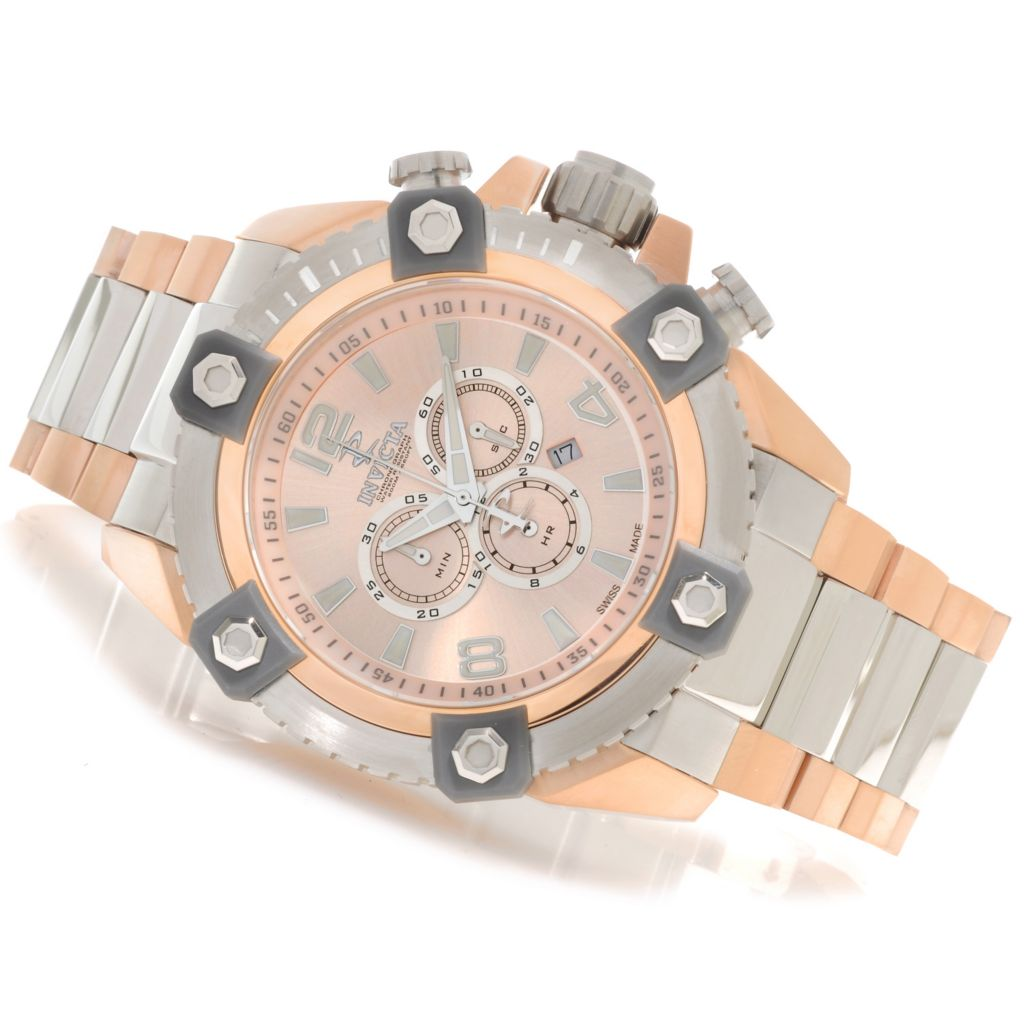 622-998 - Invicta Reserve 56mm Grand Arsenal Swiss Made Quartz Chronograph Bracelet Watch