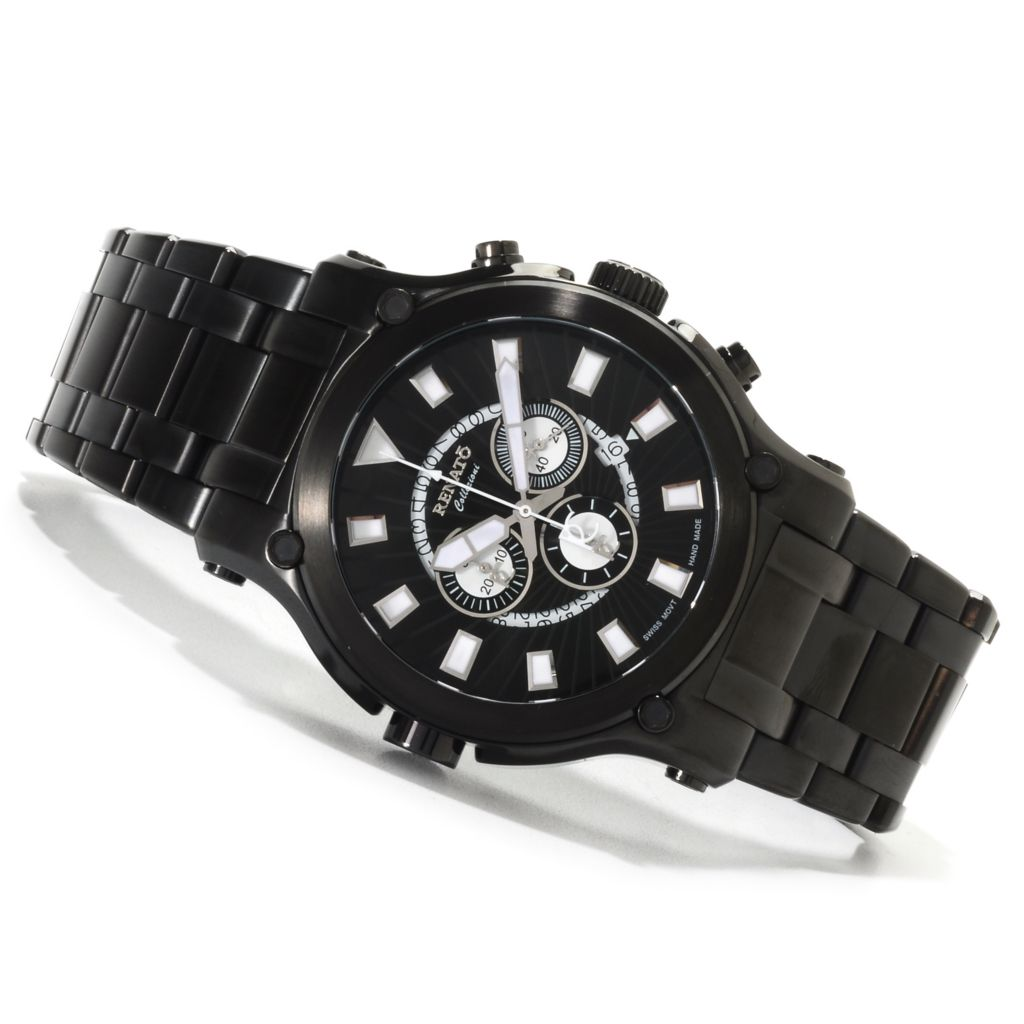 623-008 - Renato 50mm Calibre Robusta Swiss Quartz Chronograph Stainless Steel Bracelet Watch